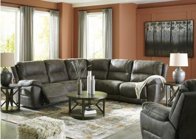 Image for 6 Pc Power Reclining Sectional with Power Headrests