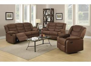 Image for Cocoa or Grey Reclining Sofa Set
