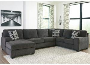 Image for Ballinasloe Smoke 3 piece LAF Chaise sectional