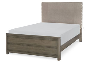 Big Sky By Wendy Bellissimo Weathered Oak Panel Queen Bed Squan Furniture