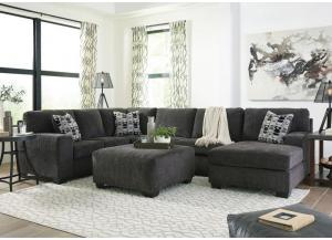 Image for Ballinasloe Smoke 3 piece RAF Chaise Sectional