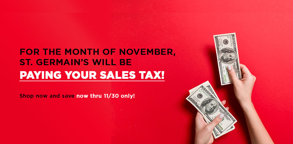 We Pay Your Sales Tax - All November Long