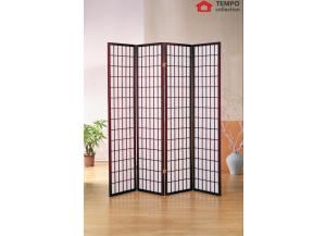 Image for 4 Panel Room Divider, Cherry