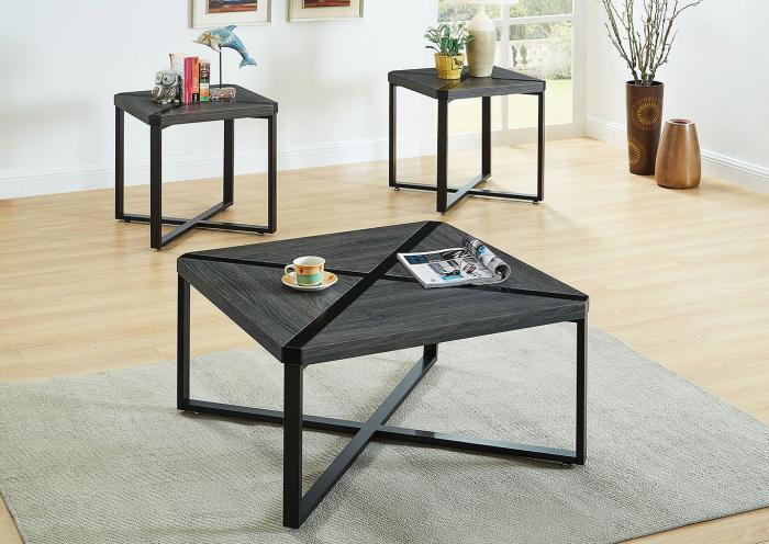 3 Pc Black Coffee Table Set The Furniture Loft