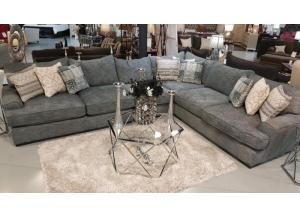 Image for Oversized Gray/Blue Sectional