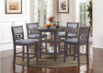 Image for GIA GRAY COUNTER TABLE WITH FOUR CHAIRS