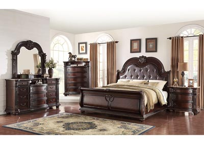 Image for Stanley Upholstered King Sleigh Bed w/Dresser, Mirror and Nightstand
