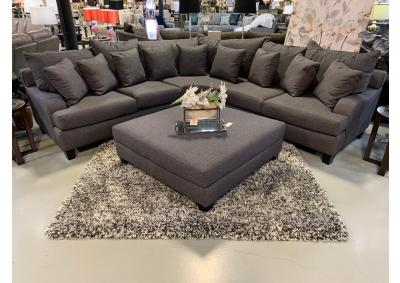 Image for Gray 3pc Sectional