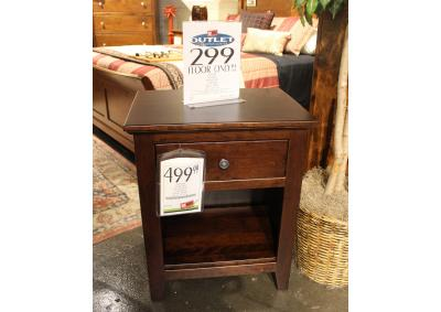 Image for Clearance - Solid Maple Drawer Nightstand by Premier