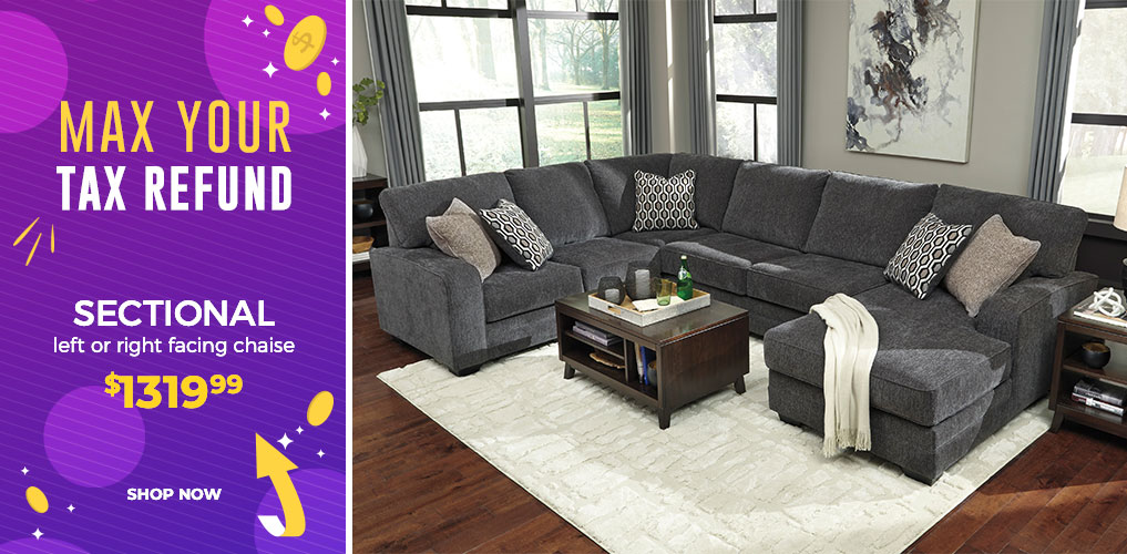 Max Your Tax Refund Sale - Sectional $1319