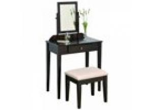 Image for Crown Mark Espresso Vanity Table and Bench