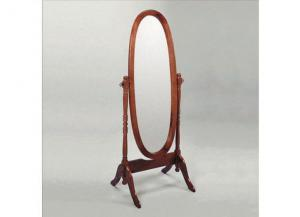 Image for Traditional Style Cheval Mirror in Rich Cherry Finish