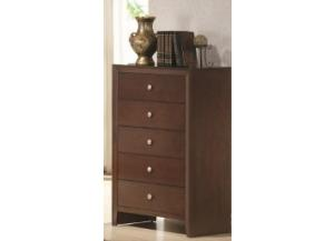 Image for Crown Mark Contemporary Dark Brown 5 Drawer Chest
