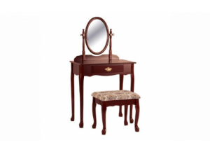 Image for Crown Mark Vanity and Stool Set