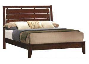 Image for Crown Mark Contemporary Dark Brown Queen Bed