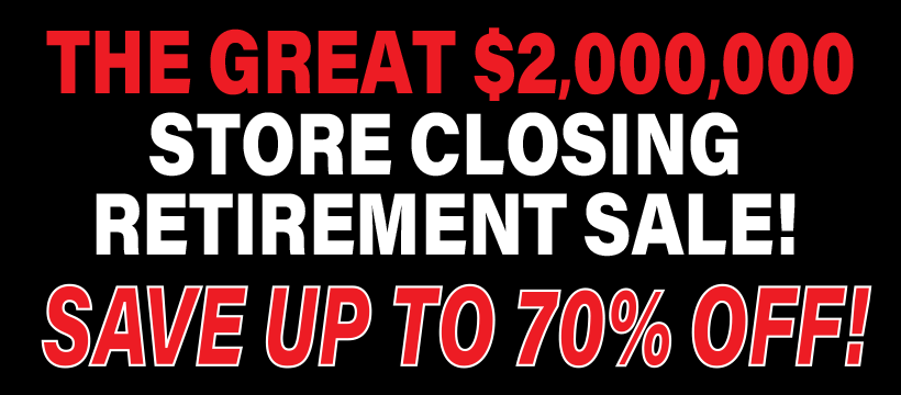 Tucker Furniture Retirement Store Closing Sale Banner