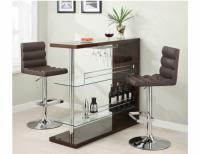 Image for Brown Bar Table w/Wine Glass Holder