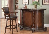 Image for Coaster Cherry Bar Unit w/Marble Top