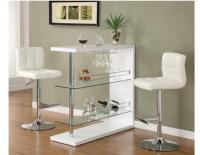 Image for White Bar Table w/Wine Glass Holder