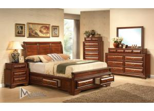 Image for Baron Queen Storage Bed, Dresser, Mirror, Nightstand