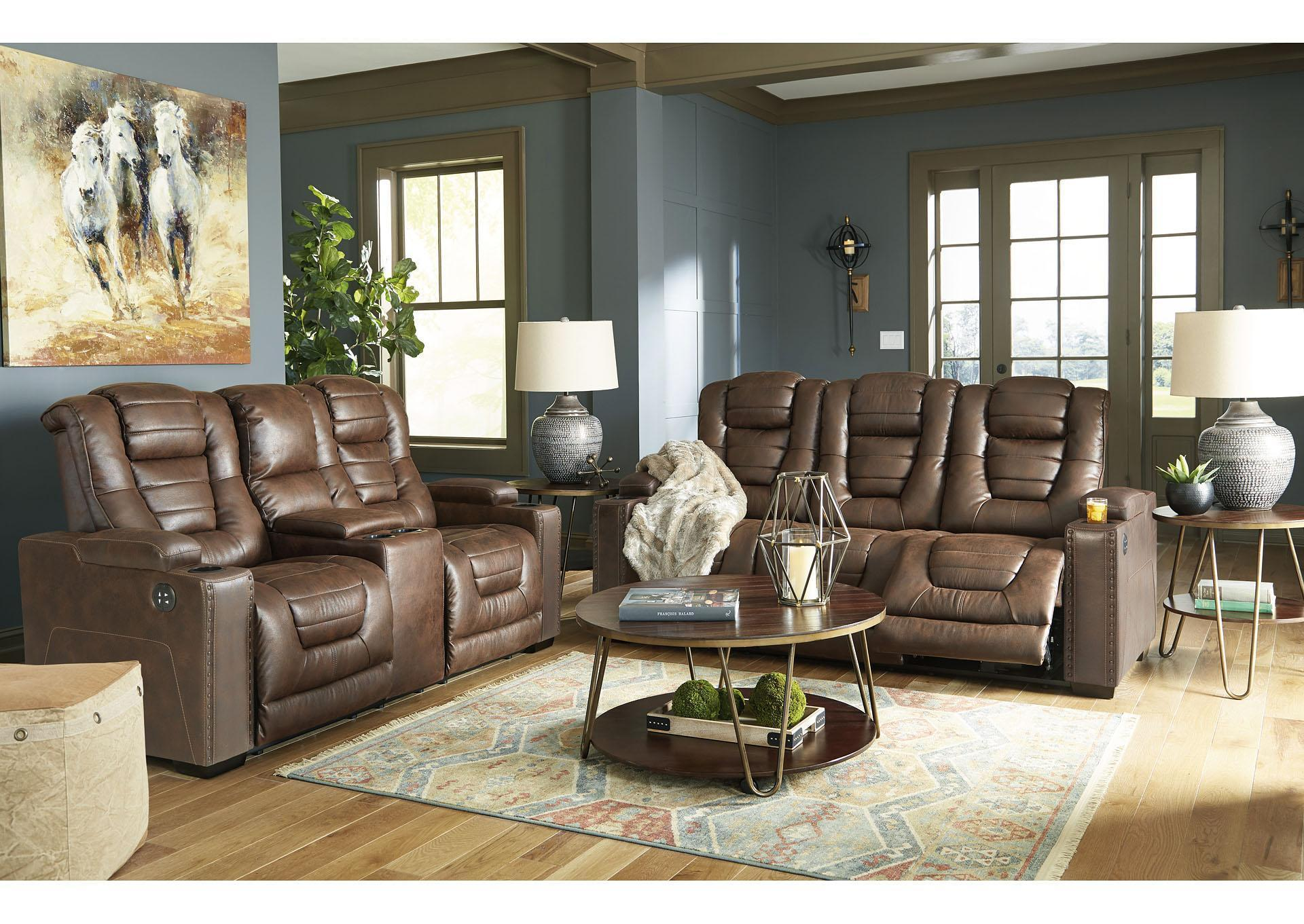 "Owner's Box Power Reclining Sofa & Loveseat PLUS FREE 50"" TV ,Tax Return Sales Event 2021"