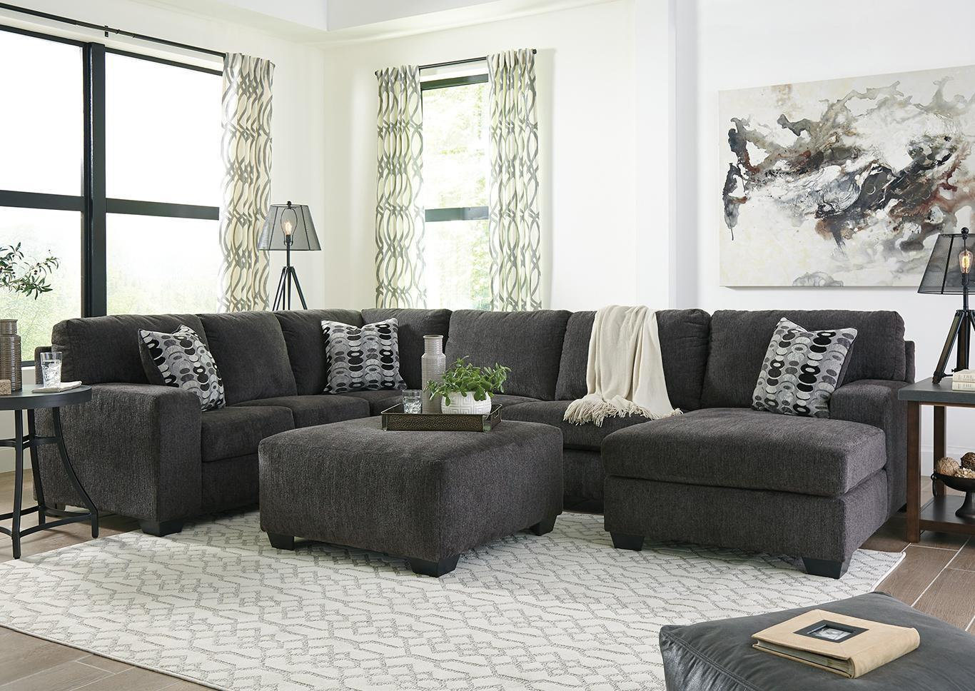 "Ballinasloe Smoke Sectional + FREE 50"" TV,Tax Return Sales Event 2021"