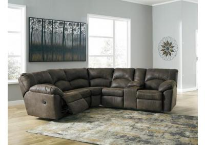 "Tambo Brown Reclining Sectional + FREE 50"" TV"