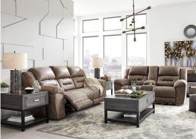 Image for Stoneland Fossil Reclining Sofa and Loveseat + Bonus Buy Recliner