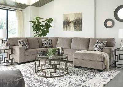 "Ballinasloe Platinum Sectional + FREE 50"" TV"