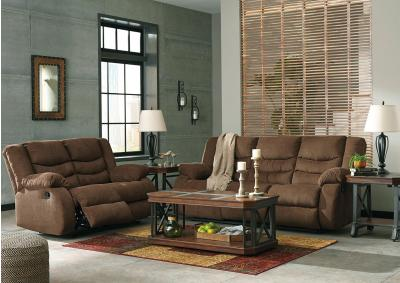 Image for Chocolate Reclining Sofa and Loveseat + Bonus Buy Recliner